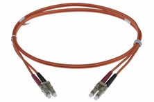 20M LC-LC 50-125UM DUPLEX FIBRE OPTIC PATCH LEADS, ORANGE