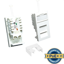 ULTIMA CAT6 LOW PROFILE EURO MODULE UNSHIELDED WHITE
