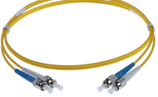 25M FC-ST SINGLEMODE OS2 DUPLEX FIBRE OPTIC PATCH LEADS, YELLOW