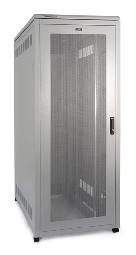 PI SERVER CABINET 27U 600 WIDE X 1000 DEEP - MESH DOOR
