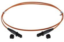 1m MTRJ-MTRJ 50/125um DUPLEX FIBRE OPTIC PATCH LEADS, ORANGE
