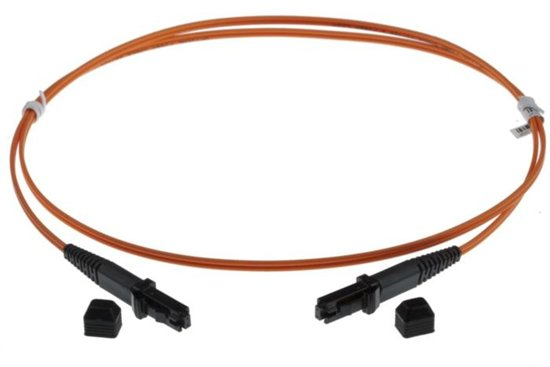 2m MTRJ-MTRJ 50/125um DUPLEX FIBRE OPTIC PATCH LEADS, ORANGE