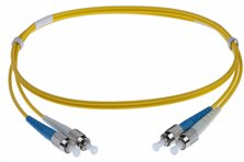 20M FC-FC SINGLEMODE OS2 DUPLEX FIBRE OPTIC PATCH LEADS, YELLOW