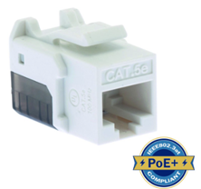 ULTIMA CAT5E KEYSTONE JACK PUNCHDOWN 90 DEGREE WHITE