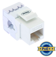 ULTIMA CAT5E KEYSTONE JACK PUNCHDOWN 180 DEGREE WHITE