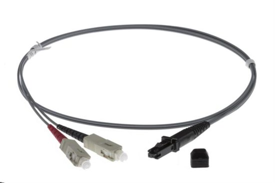 25m MTRJ-SC 62.5/125um DUPLEX FIBRE OPTIC PATCH LEADS, GREY