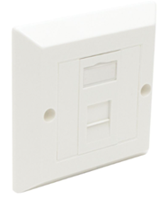 ULTIMA CAT6 1X EURO BEVELLED FACEPLATE SINGLE GANG ASSEMBLED OUTLET