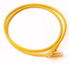 CAT6 UTP PATCH LEAD LSZH 1M YELLOW