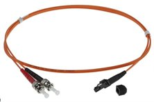 5m MTRJ-ST 50/125um DUPLEX FIBRE OPTIC PATCH LEADS, ORANGE