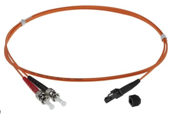 30m MTRJ-ST 50/125um DUPLEX FIBRE OPTIC PATCH LEADS, ORANGE