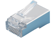 CAT5E RJ45 PLUG SHIELDED PART CLEAR