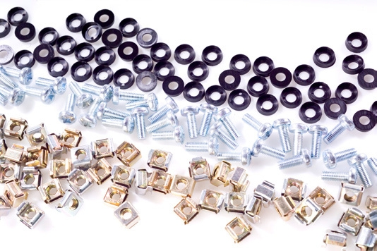 BAG OF 50 CAGE NUTS, BOLTS AND CUP WASHERS