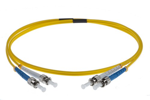 10M ST-ST SINGLEMODE OS2 DUPLEX FIBRE OPTIC PATCH LEADS, YELLOW