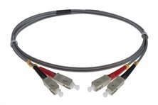 5M SC-SC 62.5-125UM DUPLEX FIBRE OPTIC PATCH LEADS GREY