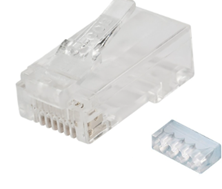 CAT6 RJ45 PLUG UNSHIELDED PART CLEAR 50 PACK