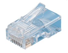 CAT5E RJ45 PLUG UNSHIELDED PART CLEAR