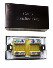 CAT6 INLINE CONNECTOR IDC PUNCHDOWN SHIELDED SILVER