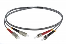 1M SC-ST 62.5-125UM DUPLEX FIBRE OPTIC PATCH LEADS GREY