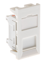 ULTIMA CAT5E STANDARD PROFILE EURO MODULE UNSHIELDED WHITE