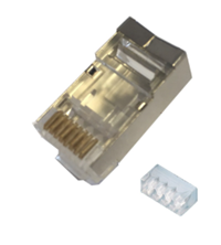 CAT6A RJ45 PLUG SHIELDED 50 PACK