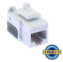 ULTIMA CAT6 KEYSTONE JACK PUNCHDOWN 90 DEGREE WHITE