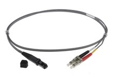2m MTRJ-LC 62.5/125um DUPLEX FIBRE OPTIC PATCH LEADS, GREY