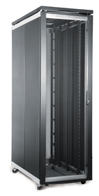FI SERVER CABINET 27U 600 WIDE X 1000 DEEP - CURVED MESH