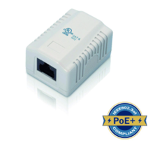 CAT6 SURFACE MOUNTED OUTLET 1PORT UNSHIELDED WHITE