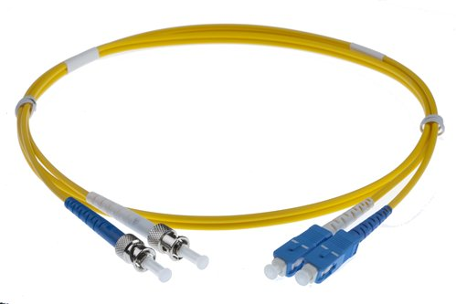 5M SC-ST SINGLEMODE OS2 DUPLEX FIBRE OPTIC PATCH LEADS, YELLOW