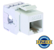 ULTIMA CAT6 KEYSTONE JACK PUNCHDOWN 180 DEGREE WHITE