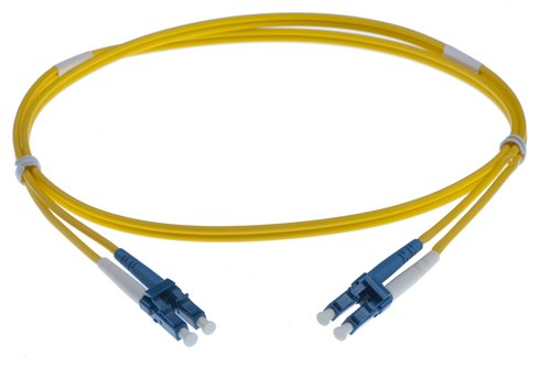 0.5M LC-LC SINGLEMODE OS2 DUPLEX FIBRE OPTIC PATCH LEADS YELLOW