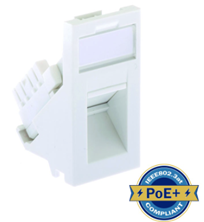ULTIMA CAT6 LOW PROFILE EURO ANGLED MODULE UNSHIELDED WHITE