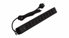 6 WAY UNIVERSAL PDU WITH IEC C13 SOCKETS AND UK PLUG