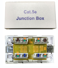 CAT5E INLINE CONNECTOR IDC PUNCHDOWN UNSHIELDED WHITE