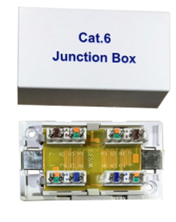 CAT6 INLINE CONNECTOR IDC PUNCHDOWN UNSHIELDED WHITE