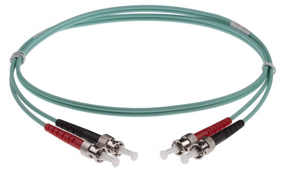 ST-ST DUPLEX FIBRE OPTIC PATCH LEADS 3M OM3 AQUA