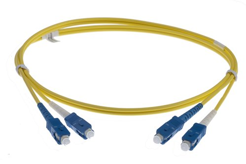 5M SC-SC SINGLEMODE OS2 DUPLEX FIBRE OPTIC PATCH LEADS, YELLOW