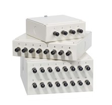 4WAY ST WALL MOUNTED PATCH BOX LOADED WITH 4 SM ADAPTORS