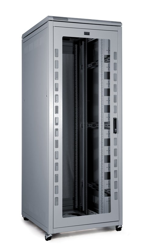PI DATA CABINET 42U 600 WIDE X 800 DEEP - GLASS DOOR