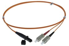 5m MTRJ-SC 50/125um DUPLEX FIBRE OPTIC PATCH LEADS, ORANGE