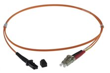 2m MTRJ-LC 50/125um DUPLEX FIBRE OPTIC PATCH LEADS, ORANGE