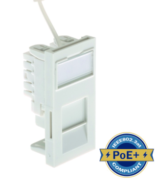 ULTIMA CAT5E LOW PROFILE EURO MODULE UNSHIELDED WHITE