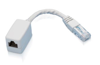 CAT6 RJ45 MALE TO FEMALE ADAPTOR LIGHT GREY