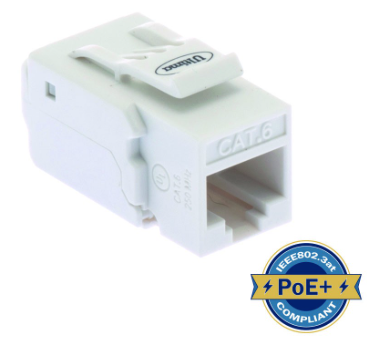 ULTIMA CAT6 KEYSTONE JACK TOOLLESS 90 DEGREE WHITE