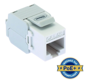 ULTIMA CAT5E KEYSTONE JACK TOOLLESS 180 DEGREE WHITE