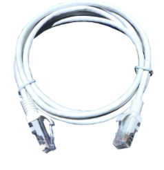 CAT5E U/UTP PATCH LEAD PVC 1M WHITE