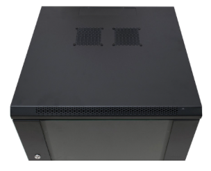 Wall Mounted Box Black 15U 600 WIDE x 600 DEEP