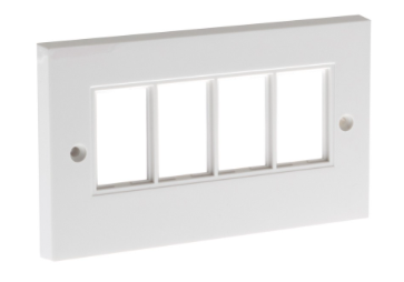 ULTIMA 4x LJ6C FACEPLATE FLAT DOUBLE GANG