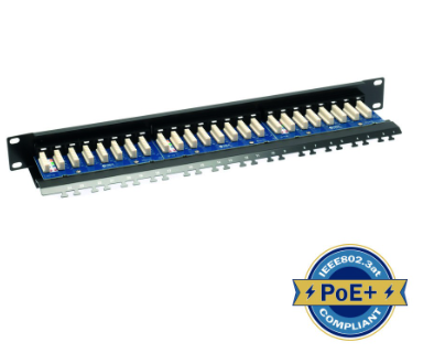 ULTIMA CAT5E RIGHT ANGLE PATCH PANEL 24 PORT