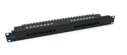 ULTIMA CAT5E RIGHT ANGLE PATCH PANEL 16 PORT